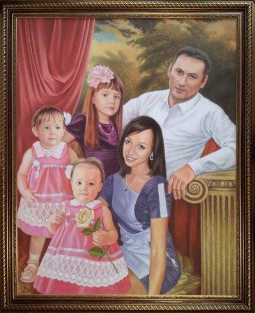 Семейный портрет маслом в Кирове — правильная традиция…