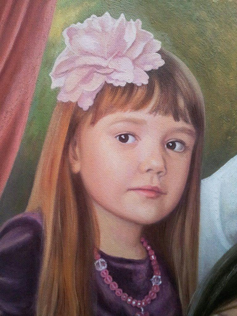 Семейный портрет на холсте Киров