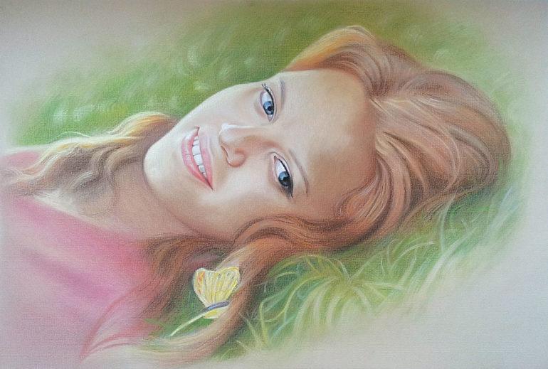 Настоящий портрет пастелью для любимой девушки в Кирове, просто и со вкусом!