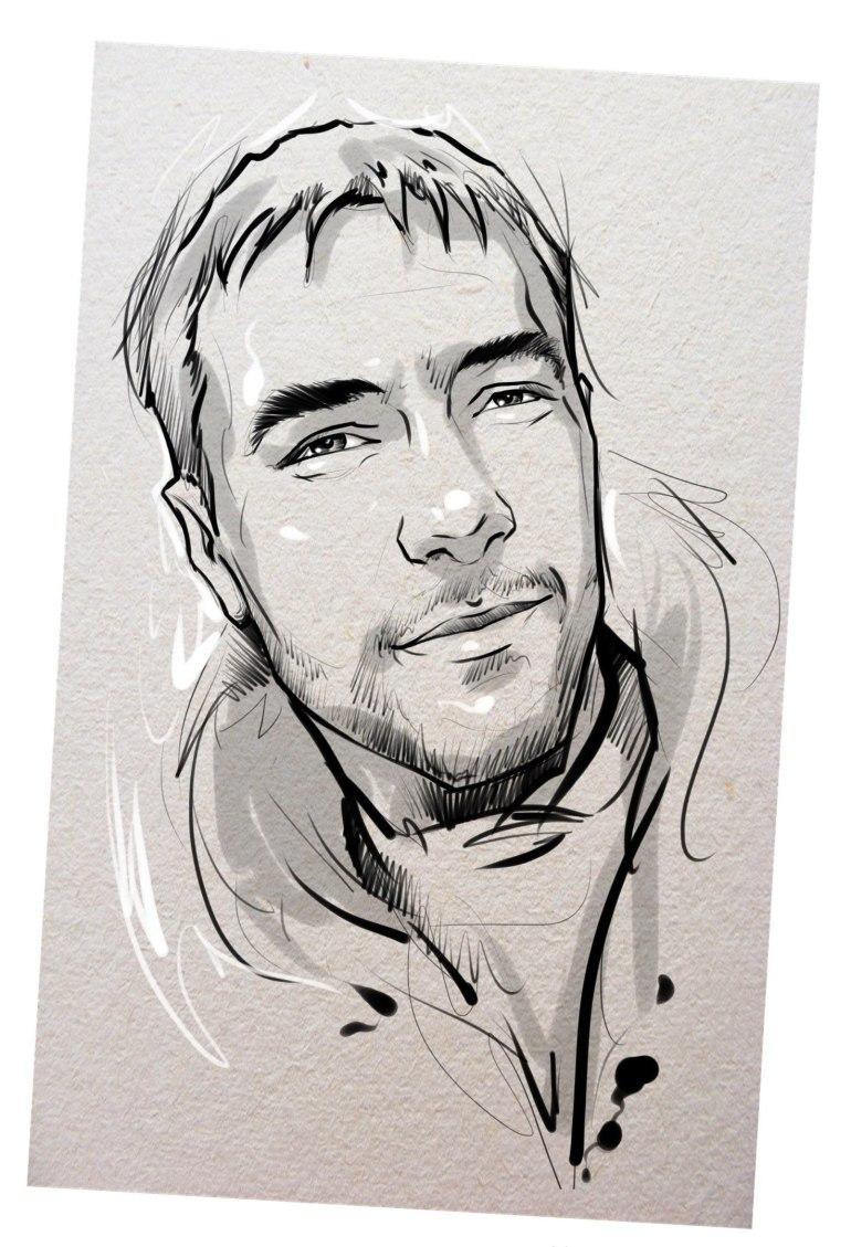 Портрет карандашом любимому мужу в Кирове…