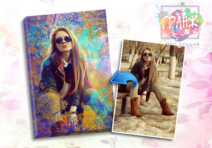 Портрет по фото на заказ в честь 8 марта в Кирове