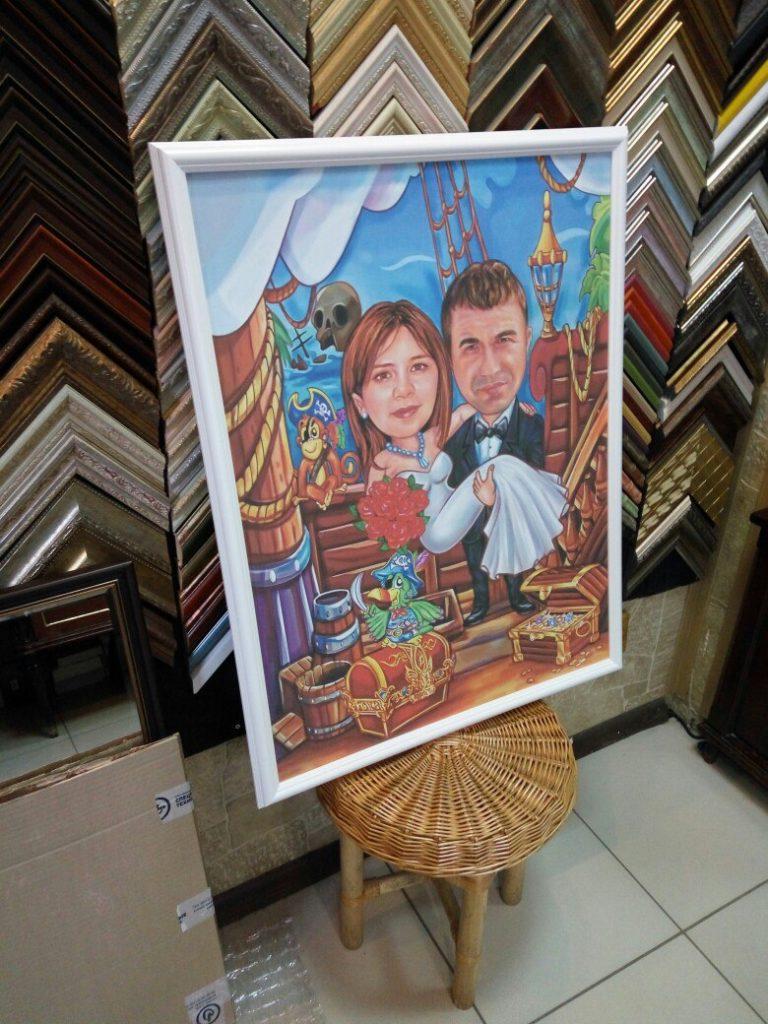 портрет шарж на заказ в Кирове