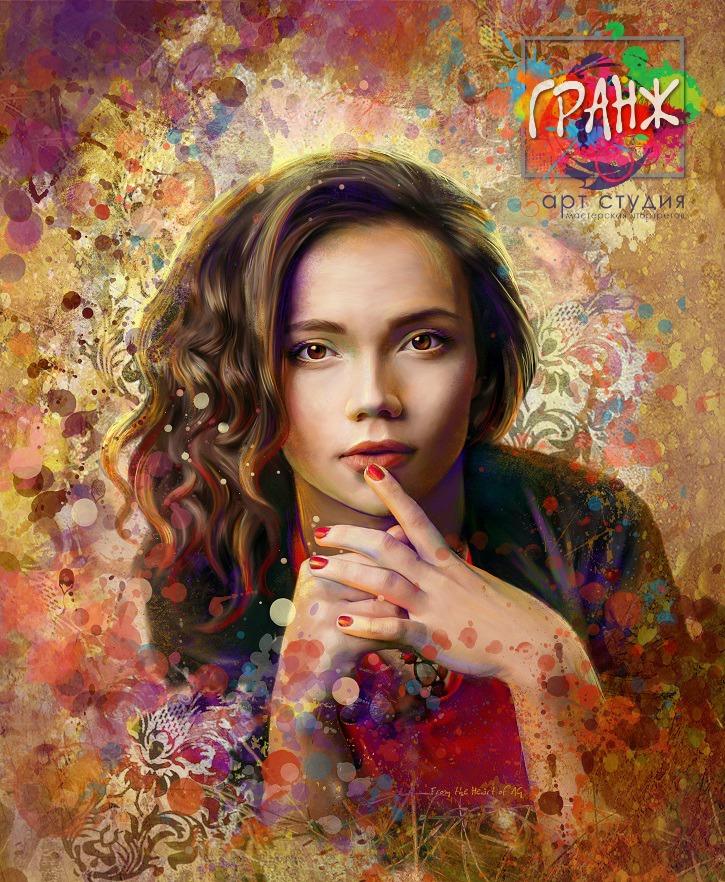 Портрет по фото, подарок на 14 февраля Киров
