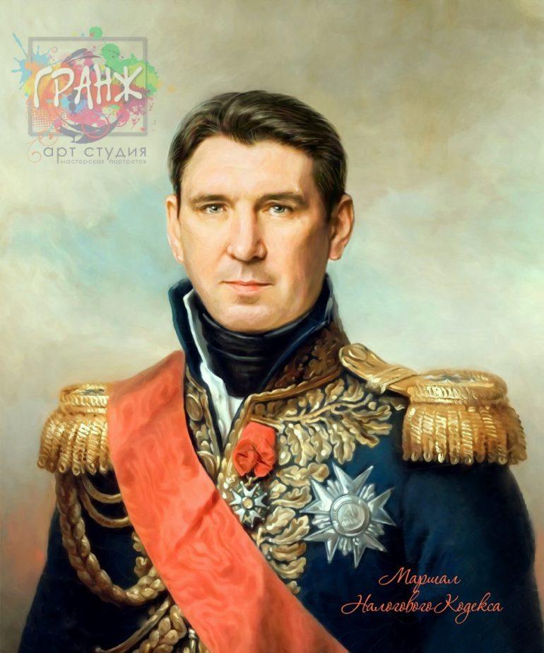 Портрет по фото на холсте в подарок мужчине на 23 февраля Киров