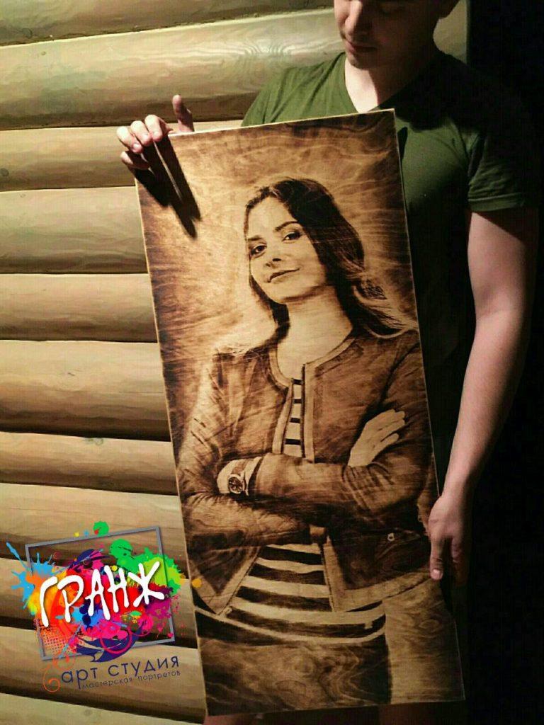 Портрет на дереве заказать