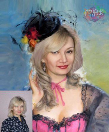 Заказать арт портрет по фото на холсте в Кирове.