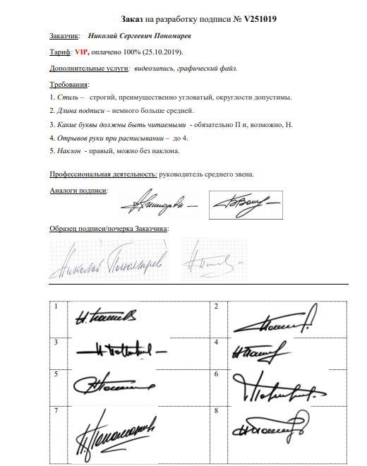 Разработка личной подписи онлайн Киров