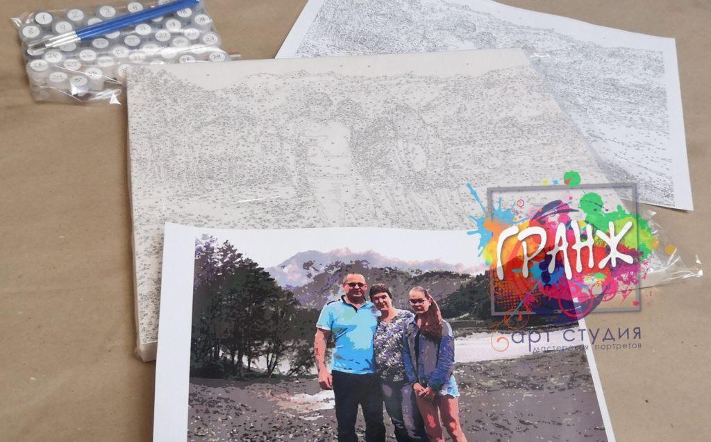 картин по номерам на холсте по фото Киров