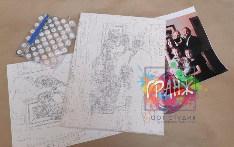 Картина по номерам по фото, портреты на холсте и дереве в Кирове